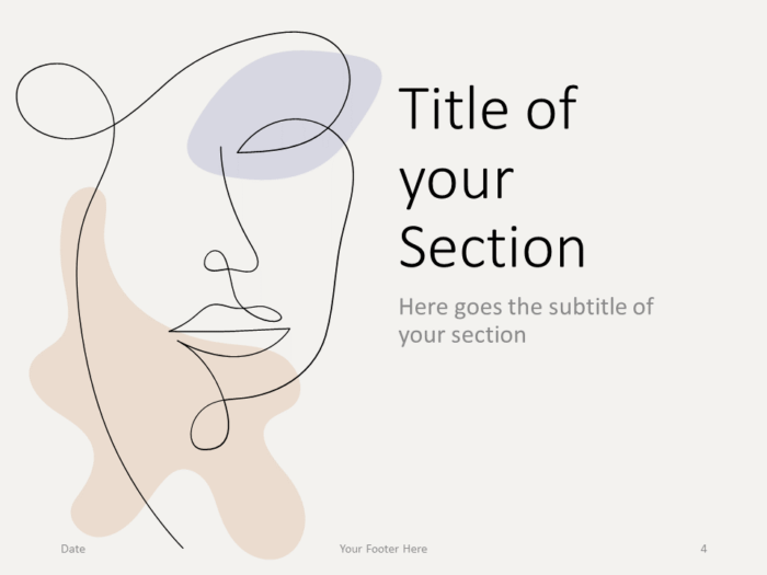 Free Portraits Template for PowerPoint – Section Slide (Variant 1)