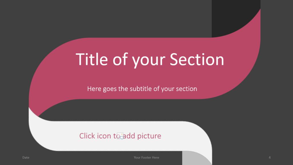 Free Twisted Strip Template for Google Slides – Section Slide (Variant 1)