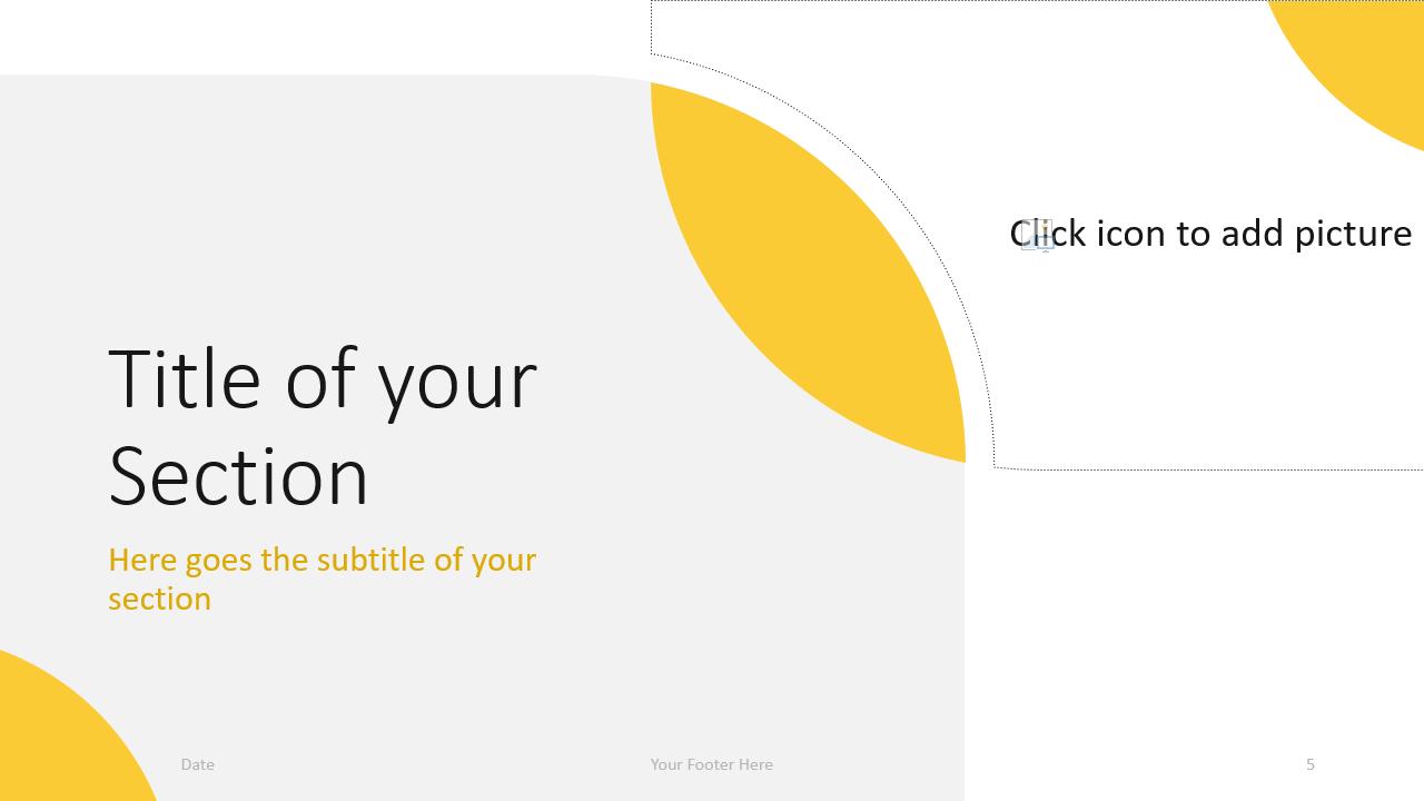Free Lens Template for Google Slides – Section Slide (Variant 2)