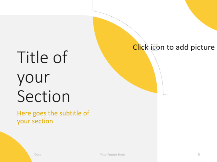 Free Lens Template for PowerPoint – Section Slide (Variant 2)