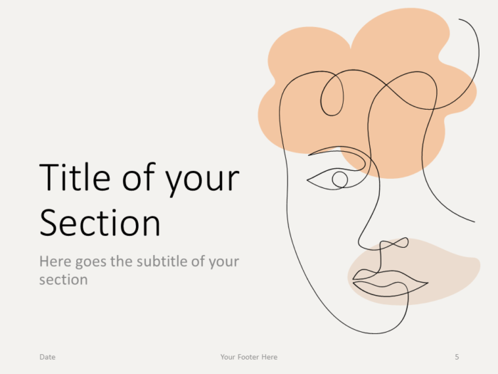 Free Portraits Template for PowerPoint – Section Slide (Variant 2)