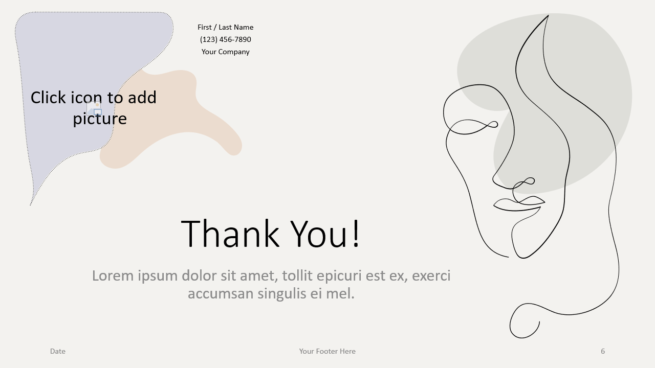 Free Portraits Template for Google Slides - Closing / Thank you
