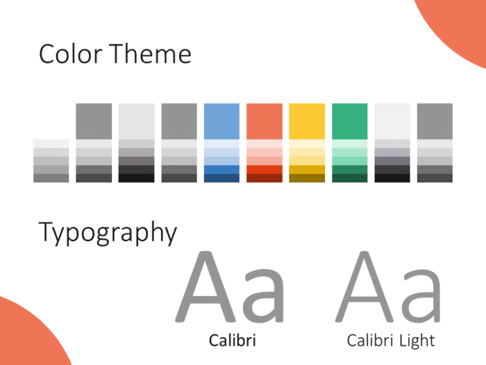 Free Lens Template for PowerPoint – Colors and Fonts