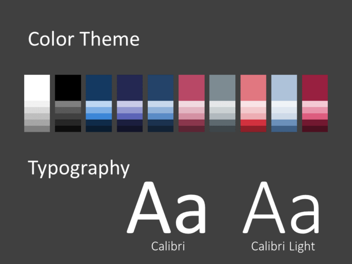 Free Twisted Strip Template for PowerPoint – Colors and Fonts
