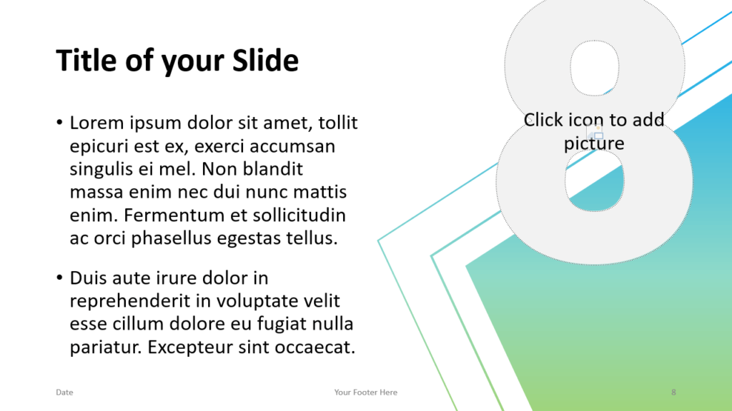 Free Gradient Numbers Template for Google Slides – Title and Content Slide (Variant 4)