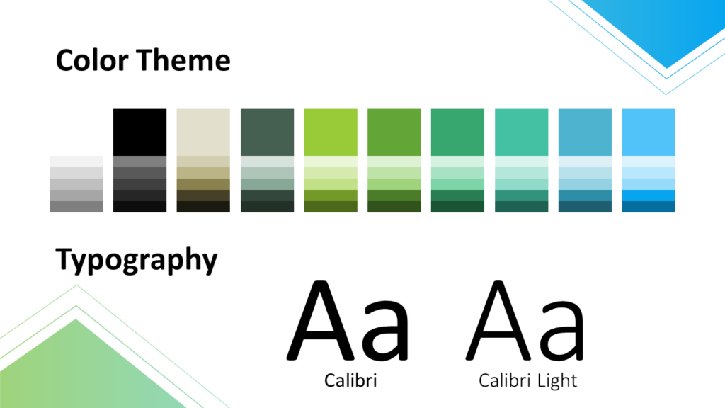 Free Gradient Numbers Template for Google Slides – Colors and Fonts