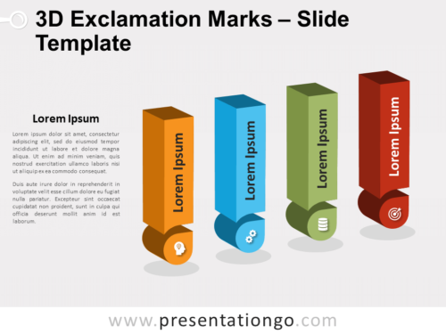 Free 3D Exclamation Marks for PowerPoint