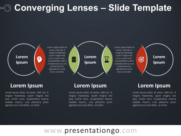 Free Converging Lenses Diagram for PowerPoint