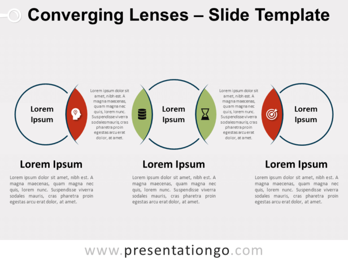 Free Converging Lenses for PowerPoint