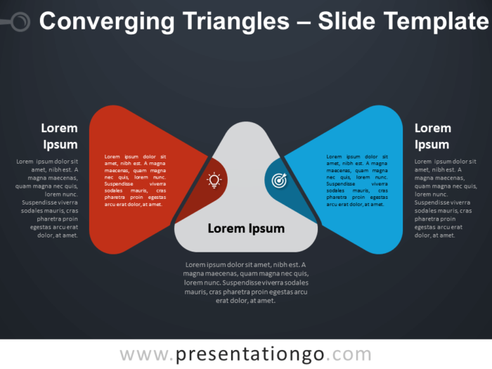 Free Converging Triangles Diagram for PowerPoint