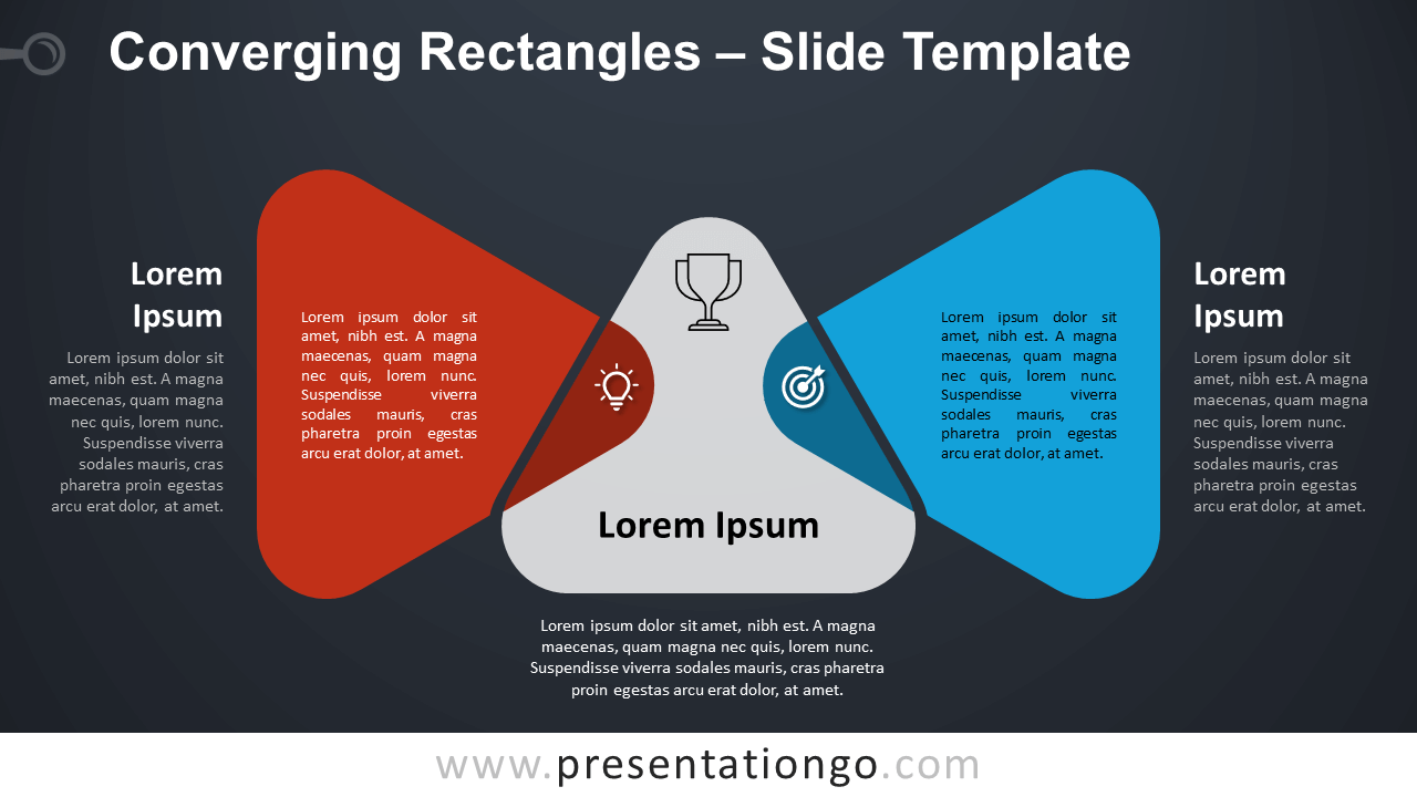 Free Converging Triangles Diagram for PowerPoint and Google Slides