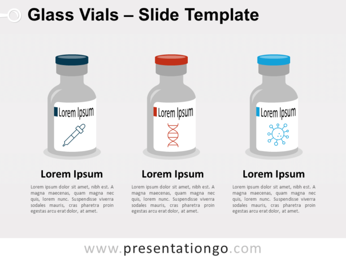 Free Glass Vials for PowerPoint