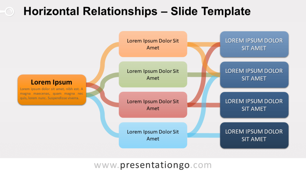 Free Horizontal Relationships for PowerPoint and Google Slides