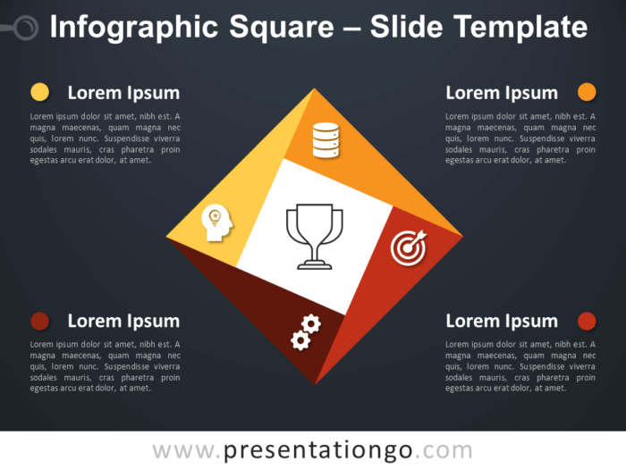 Free Infographic Square Diagram for PowerPoint