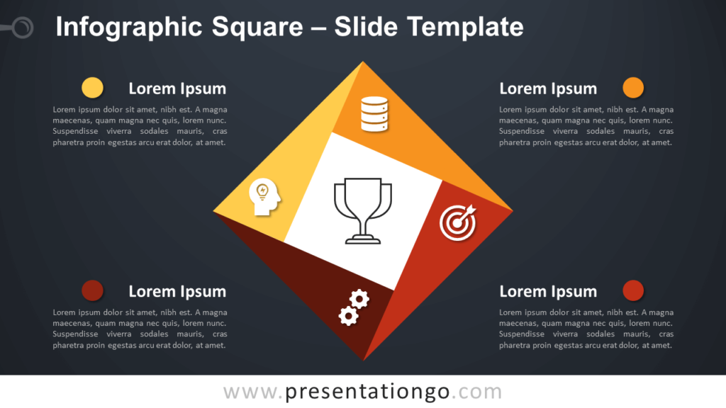 Free Infographic Square Diagram for PowerPoint and Google Slides