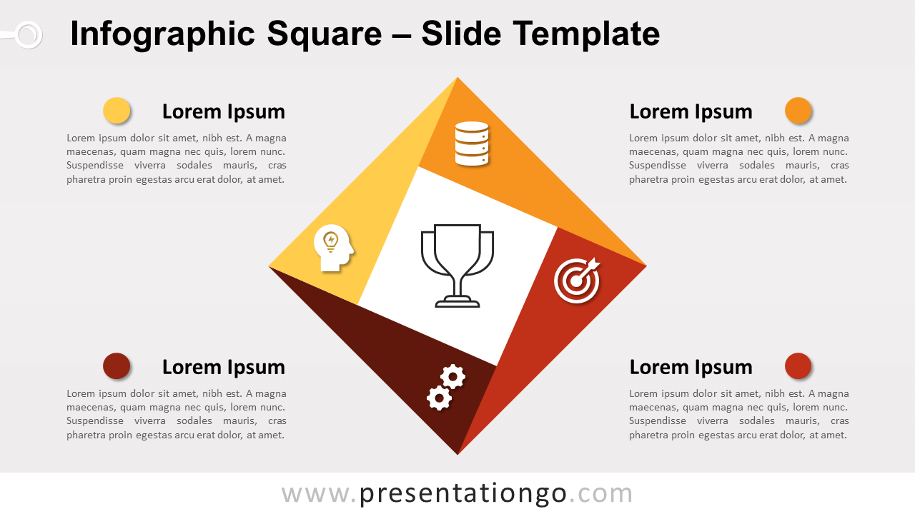 Free Infographic Square for PowerPoint and Google Slides