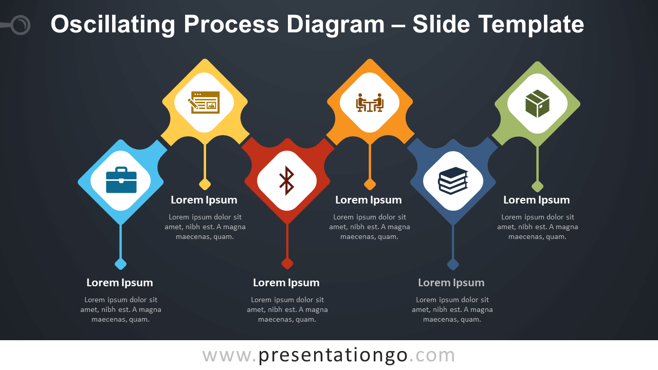 Free Oscillating Process Diagram Infographics for PowerPoint and Google Slides