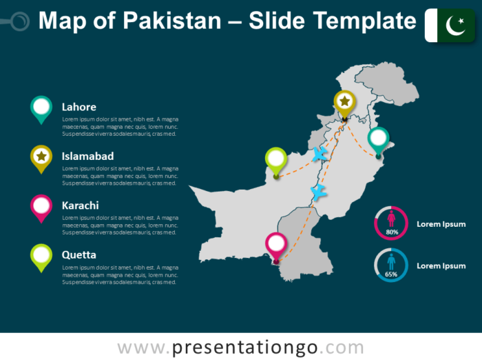 Free Map of Pakistan for PowerPoint