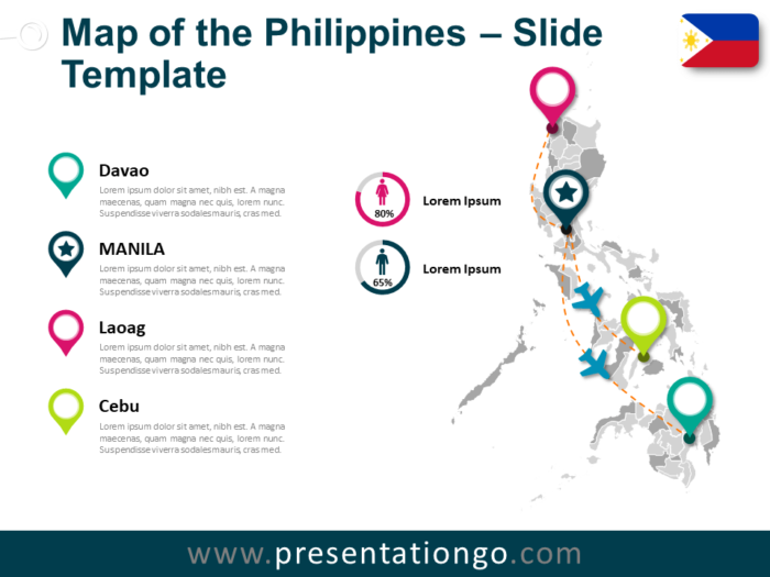 Free Map of Philippines for PowerPoint