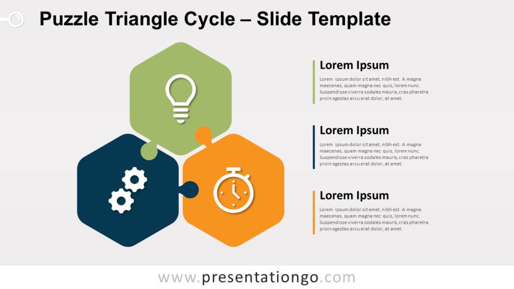 Free Puzzle Triangle Cycle for PowerPoint and Google Slides