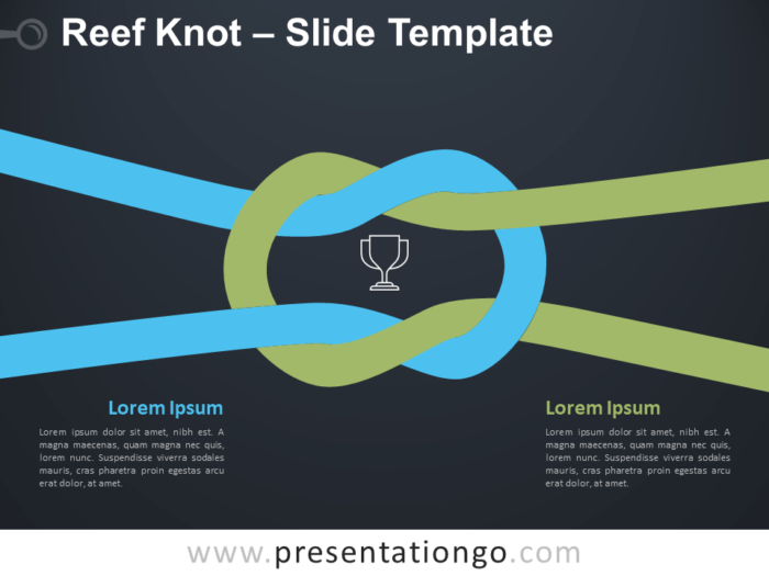 Free Reef Knot Infographic for PowerPoint