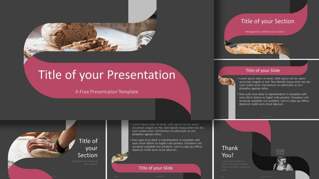 Free Twisted Strip Template for Google Slides and PowerPoint
