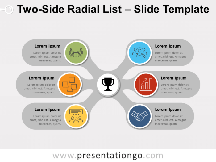 Free Two-Side Radial List for PowerPoint