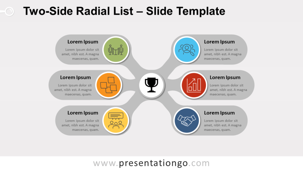 Free Two-Side Radial List for PowerPoint and Google Slides