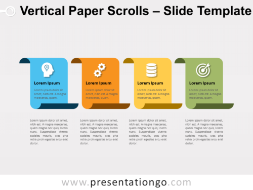 Free Vertical Paper Scrolls for PowerPoint