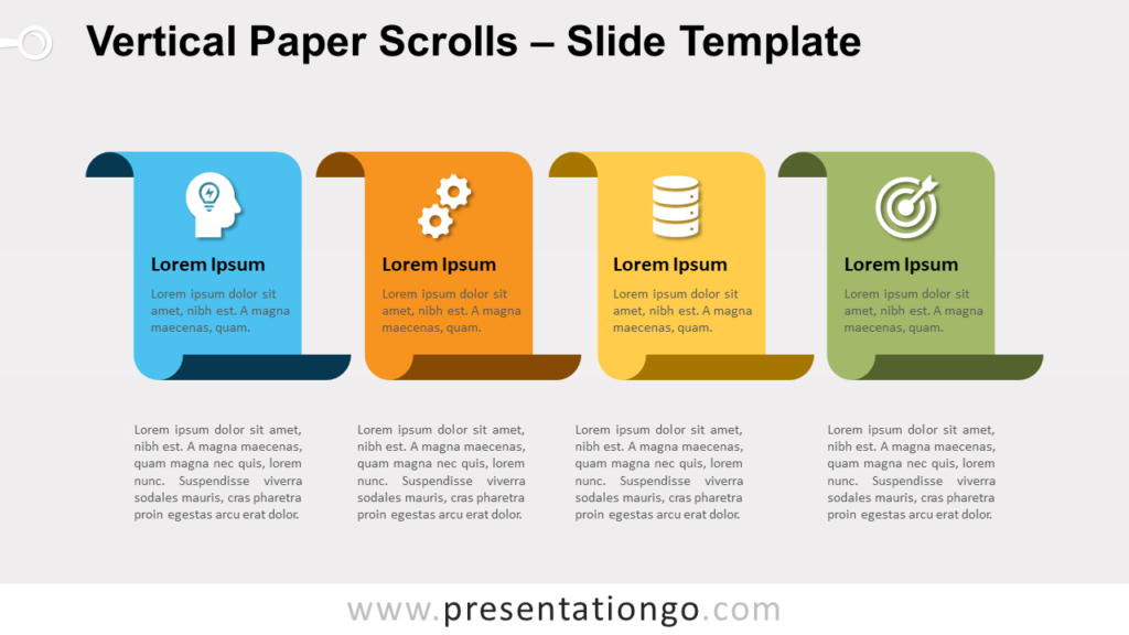 Free Vertical Paper Scrolls for PowerPoint and Google Slides