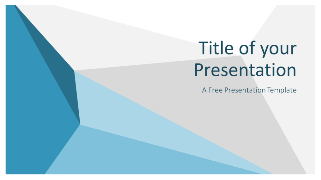 Free Abstract Origami Template for Google Slides - Cover Slide