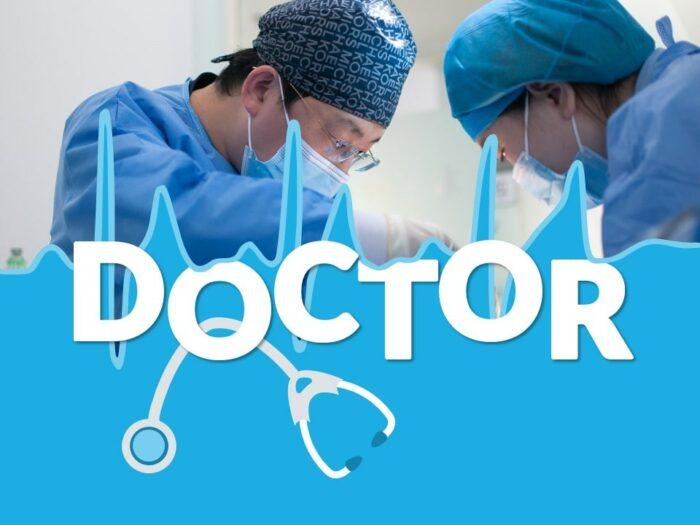 Free DOCTOR Template for Google Slides - Cover Slide