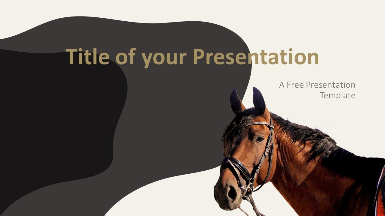 Free Horses Template for Google Slides - Cover Slide