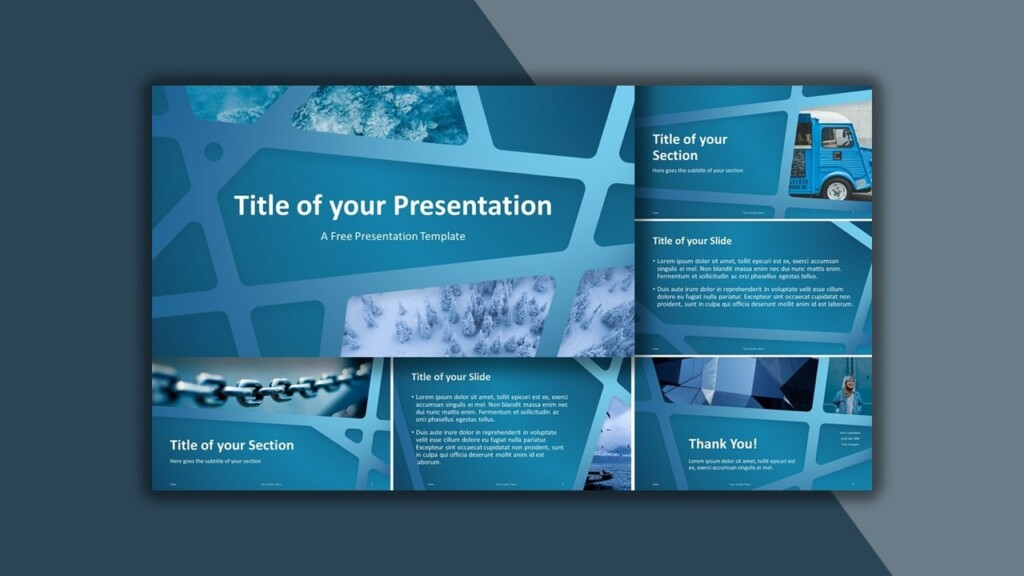 Free Blue Web Google Slides Theme and PowerPoint Template