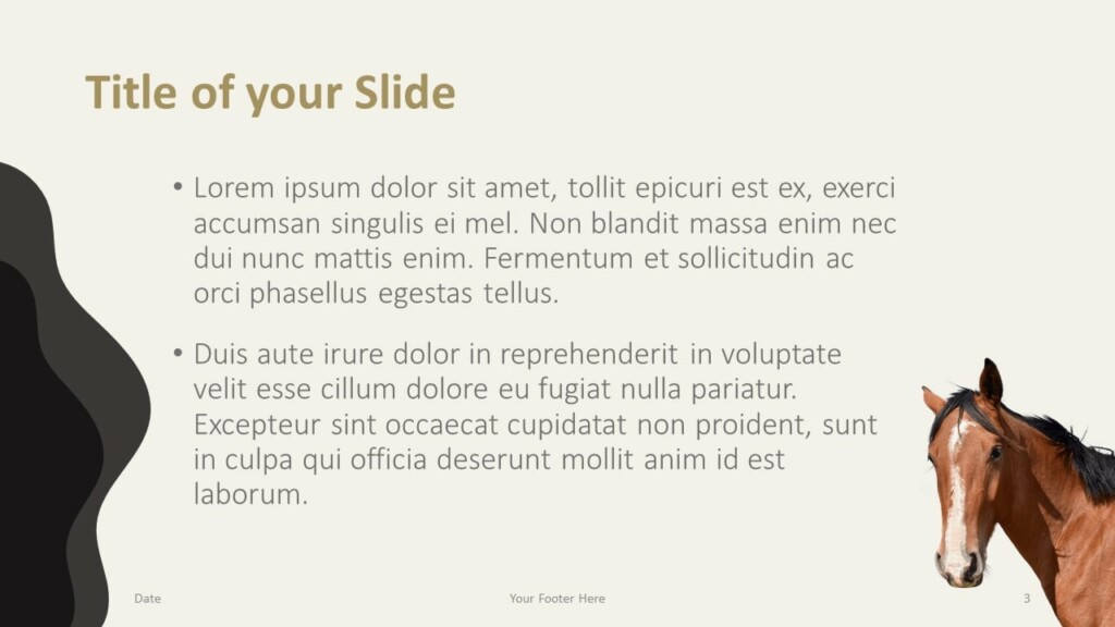 Free Horses Template for Google Slides – Title and Content Slide (Variant 2)