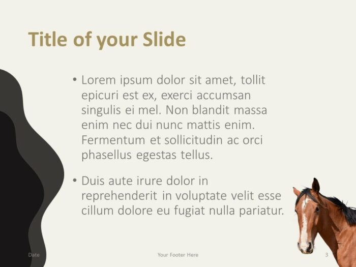 Free Horses Template for PowerPoint – Title and Content (Variant 2)