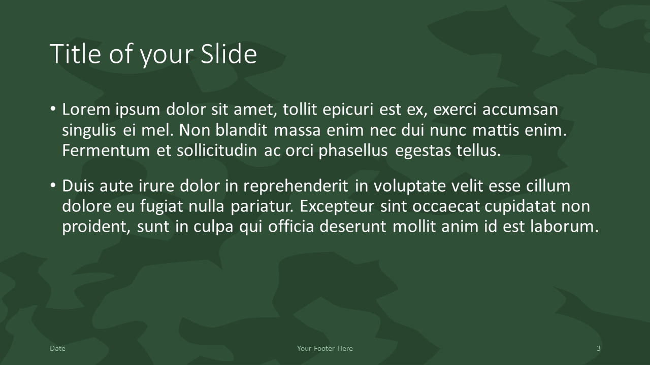 Free MILITARY Template for Google Slides – Title and Content Slide (Variant 2)