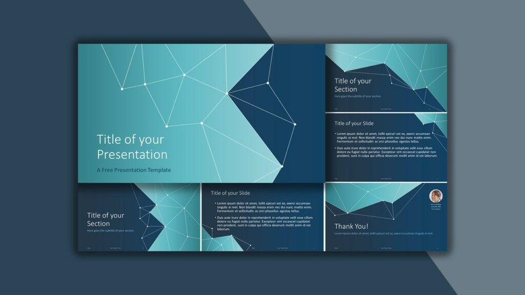 Free Blue Science and Tech Google Slides Theme and PowerPoint Template