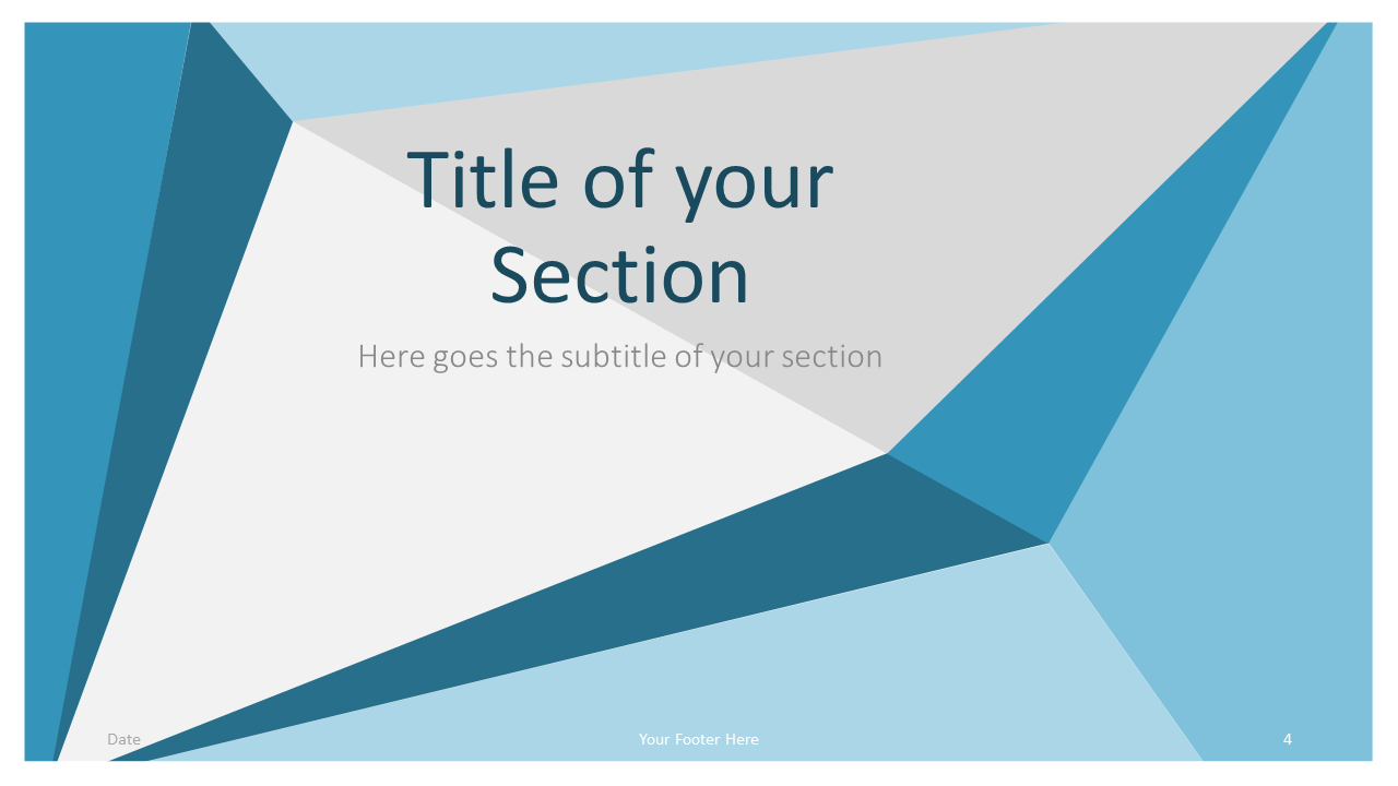 Free Abstract Origami Template for Google Slides – Section Slide (Variant 1)