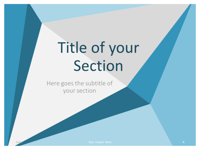Free Abstract Origami Template for PowerPoint – Section Slide (Variant 1)