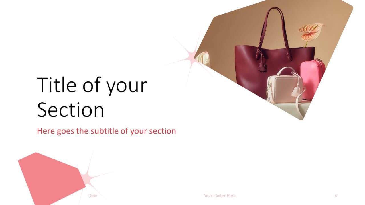 Free FASHION Template for Google Slides – Section Slide (Variant 1)