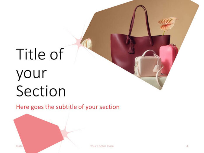Free FASHION Template for PowerPoint – Section Slide (Variant 1)