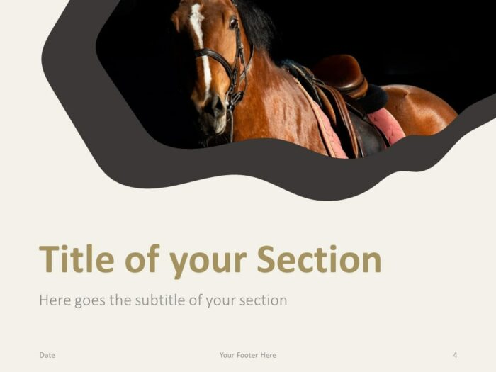 Free Horses Template for PowerPoint – Section Slide (Variant 1)