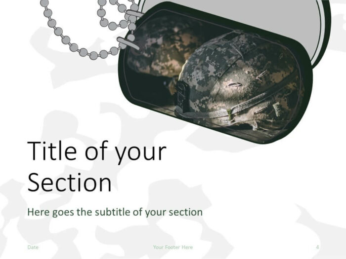 Free MILITARY Template for PowerPoint – Section Slide (Variant 1)