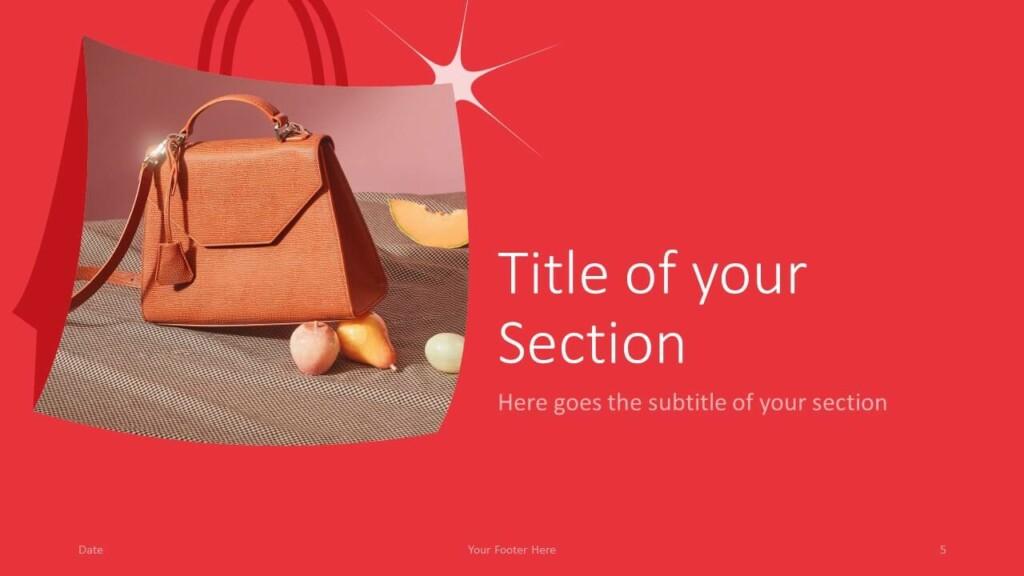Free FASHION Template for Google Slides – Section Slide (Variant 2)