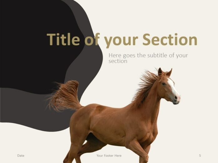 Free Horses Template for PowerPoint – Section Slide (Variant 2)