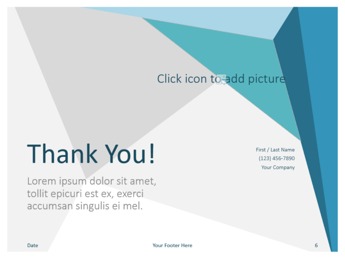 Free Abstract Origami Template for PowerPoint - Closing / Thank you