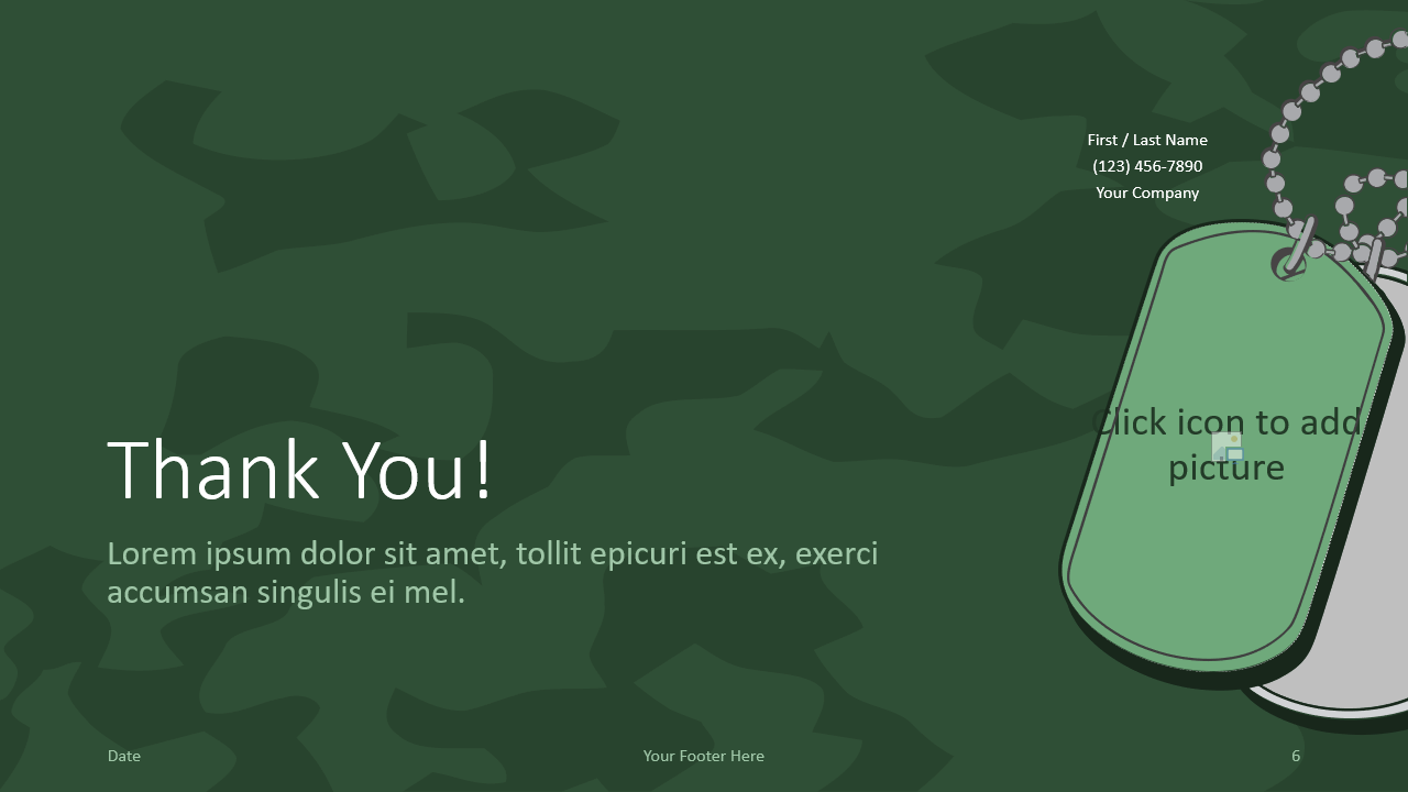 Free MILITARY Template for Google Slides - Closing / Thank you