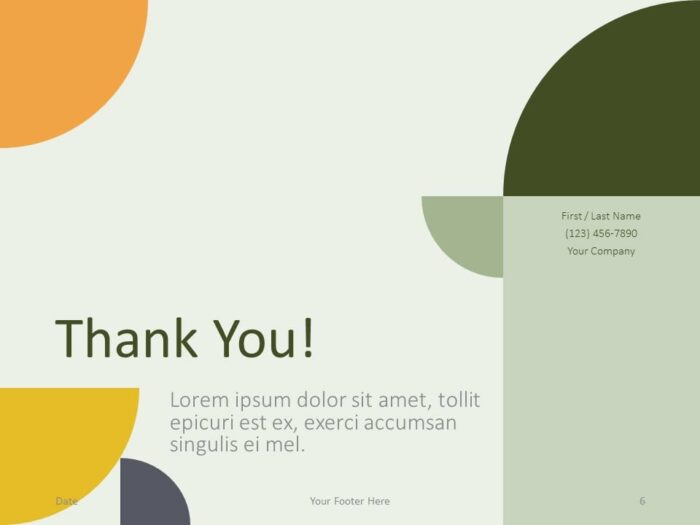 Free Quadrants Template for PowerPoint - Closing / Thank you