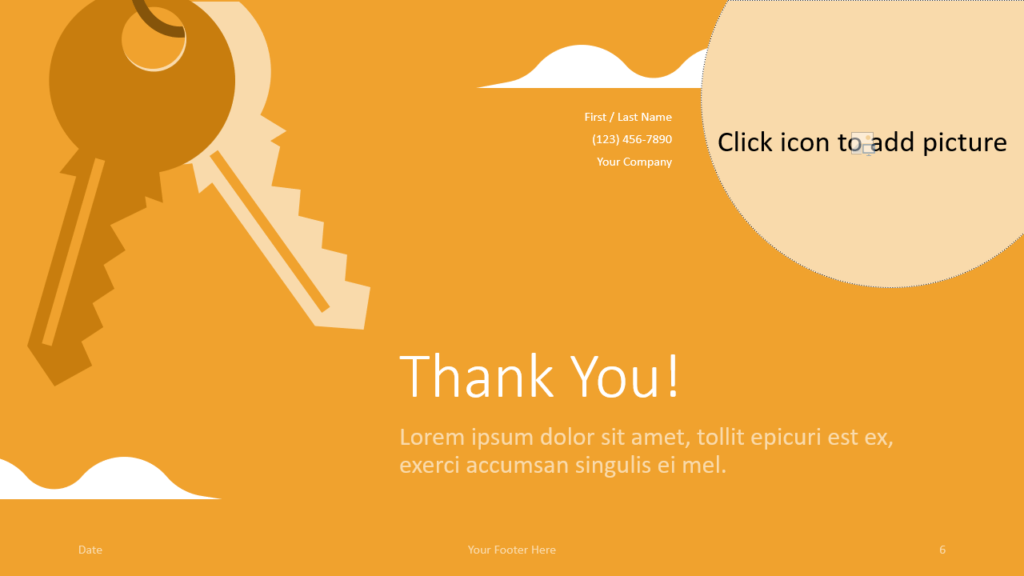 Free REALTOR Template for Google Slides - Closing / Thank you